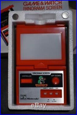 Nintendo Game Watch PANORAMA SCREEN MARIO'S BOMBS AWAY TB-94 1983 Made in Japan