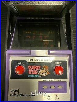 Nintendo Game Watch Panorama Screen Donkey Kong Circus MK-96 1984 Made in Japan