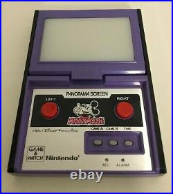 Nintendo Game & Watch Panorama Screen Mickey Mouse Excellent Works Perfectly