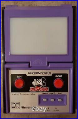 Nintendo Game&Watch Panorama Screen Mickey Mouse (WORKS PERFECTLY)