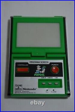 Nintendo Game & Watch Panorama Screen Popeye Working Japan 1983