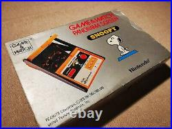 Nintendo Game & Watch Panorama Screen Snoopy SM-9, Boxed, Tested Working