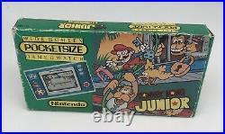 Nintendo Game & Watch Pocketsize New Wide Screen Donkey Kong Jr. DJ-101 1982