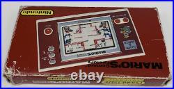 Nintendo Game & Watch Pocketsize New Wide Screen Mario's Cement Factory ML-102