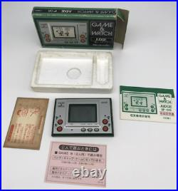 Nintendo Game & Watch Silver Series Judge Green IP-05 1981 in the box manual