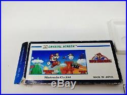 Nintendo Game & Watch Super Mario Bros. Crystal Screen YM-801 (1986) NICE COND