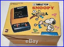 Nintendo Game & Watch Tabletop Snoopy SM-73 RARE Futuretronics Version