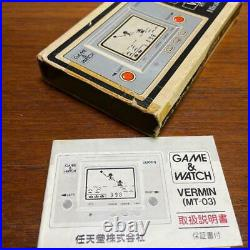Nintendo Game & Watch VERMIN Boxed MT-03 Retro game device Used Japan