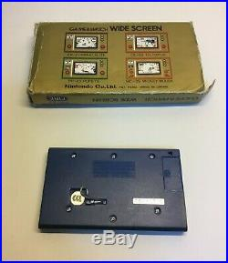Nintendo Game & Watch Wide Screen Fire Near Mint With Box And Polystyrene Case