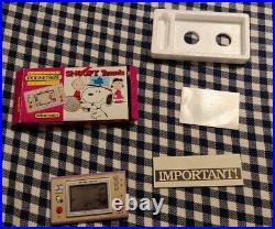 Nintendo Game & Watch Wide Screen Snoopy Tennis Pocketsize