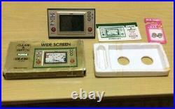 Nintendo Game & Watch Wide screen Popeye With Box handheld system console Rare JP