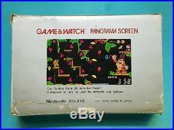 Nintendo Game and Watch Donkey Kong Jr Panorama CJ-93 Boxed