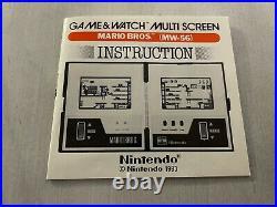 Nintendo Game and Watch Multiscreen Mario Bros MW-56
