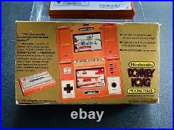 Nintendo Game and Watch POCKETSIZE Donkey Kong COMPLETE CIB manual box lcd