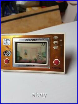 Nintendo Game and Watch Tropical Fish RARE RARE Nice Condition