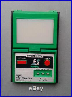 Nintendo Game&watch Panorama Popeye Pg-92 Extra Fine Condition Full Working