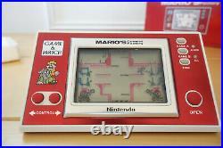 Nintendo Mario's cement factory en boite game and watch vintage 1983