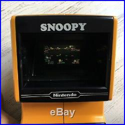 Nintendo Snoopy Tabletop Video Game & Watch RARE, Working with battery cover