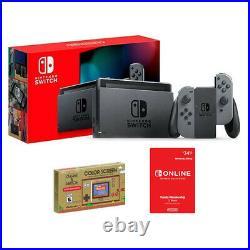 Nintendo Switch Gray Joy-Cons + Game & Watch + Nintendo Online 12M Membership