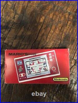 Nintendo Widescreen Game Watch Pocketsize Marios Cement Factory