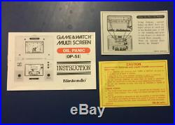 Oil Panic Nintendo Game & Watch With Box & Instructions Multi Screen 1982