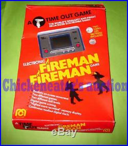 RARE 80s MEGO BOXED NINTENDO ELECTRONIC GAME&WATCH FIREMAN FIRE RETRO NO GAME