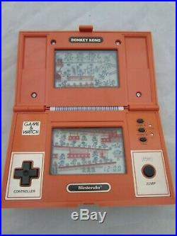 RARE MINT Nintendo Donkey Kong Game & Watch COMPLETE and Boxed