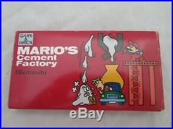 RARE MINT Nintendo Mario's Cement Factory Game & Watch COMPLETE and Boxed