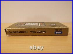 RARE -Nintendo Game & Watch EG-26 EGG 1981 With Box and Booklet