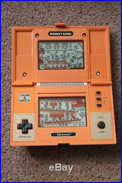 Rare Boxed Nintendo Donkey Kong Dk-52 Cgl Game And Watch 1982 Nice Example