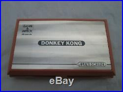 Rare Nintendo Game & Watch DONKEY KONG 1982 Complete and Boxed Near MINT