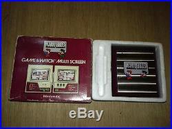 Super Mario Bros Nintendo Multi Screen Game & Watch Mw-56 + Cache Pile En Boite