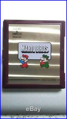 VERY GOOD! Vintage 1983 Nintendo Mario Bros Game and Watch Multi Screen-Japan
