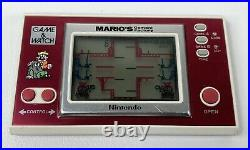 Vintage 1983 Nintendo Game & Watch Marios Cement Factory Tested & Working