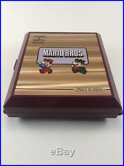 Vintage 1983 Nintendo Mario Bros Game and Watch Multi Screen-Japan