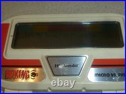Vintage Boxing Handheld Game & Watch Bx-301 1984 Nintendo Micro Vs System Rare