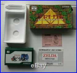 Vintage NINTENDO GAME AND WATCH GAME & WATCH ZELDA ZL-65 1989 Boxed MINT
