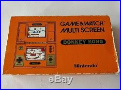 Vintage Nintendo Game & Watch Multi screen Donkey Kong, Manual, Boxed set-c0703