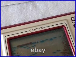 Vintage Nintendo Game & Watch Octopus OC-22 Handheld game Boxed /tested-c1213