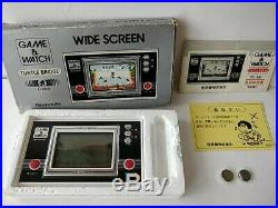 Vintage Nintendo Game & Watch TURTLE BRIDGE Console, Manual, Boxed tested-b820