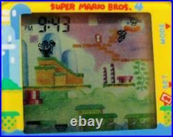 Vtg 1991 Nintendo Super Mario World Bros Game Digital Watch Head Phone New Batt
