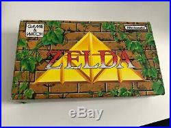 Zelda Boxed Nintendo Game & Watch Tested Includes Battery Cover